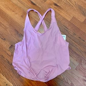 New LULULEMON Call It a Tie Tank Pink Taupe 10